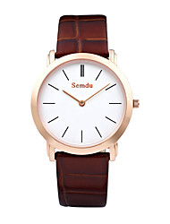 Semdu® Fashion Vintage Leather Belt Simple Design Men Waterproof Wristwatch Business Watch