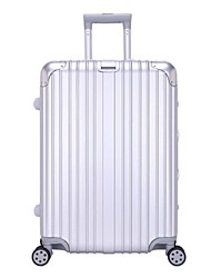 Unisexe PVC / Métallique Extérieur Bagages Blanc / Or / Rouge