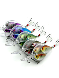 9.7cm 17.1g/Pcs Chubby Fishing Lure Three Fish Lifelike Fatty Fishing Bait With Crystal Feather Diving Fishing Tackle