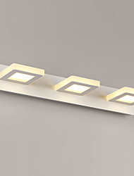 9W LED de iluminación de baño, metal moderno / contemporáneo LED integrado