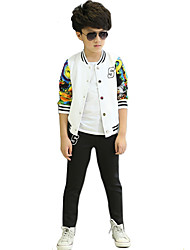 Boy's  Cotton Spring/Fall Leisure Kids Long Sleeve Baby Boy Sports Suits Two-Piece Set