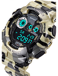 SANDA® Men's Military Camouflage Design Digital LCD Waterproof Sports Watch