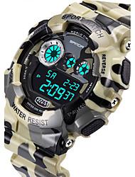 SANDA Masculino Relógio Esportivo Relogio digital Quartzo Digital Quartzo Japonês LCD Calendário Impermeável alarme Luminoso Cronômetro