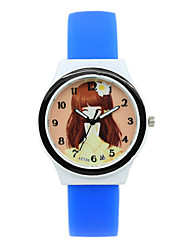Women's Digital Pointer Jelly Candy Color Silicone Strap Printing Cartoon Students Casual Quartz Watches Fashion Watch