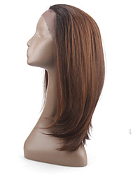 Silk Straight Synthetic Lace Front Wig  Ombre Wigs For BlackWomen Heat Resistant Fiber Glueless Front Lace Wig Cap