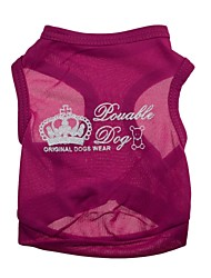 Gatos / Perros Camiseta Rosa Verano Tiaras y Coronas Moda, Dog Clothes / Dog Clothing-Other