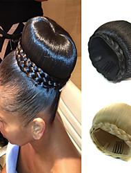 Свадебные прически шиньон бун клип косички синтетические прямые наращивание волос