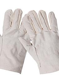 desgaste mecânico palma luvas de soldadura de algodão lona sarja lona seguro de trabalho monocamada