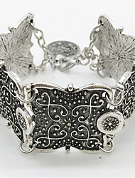 European and American retro coin bohemian bracelet carved Wide