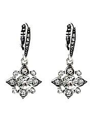 European Luxury Gem Geometric Earrrings Vintage Star Drop Earrings for Women Fashion Jewelry Best Gift