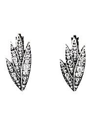 European Luxury Gem Geometric Earrrings Leaf Stud Earrings for Women Fashion Jewelry Best Gift
