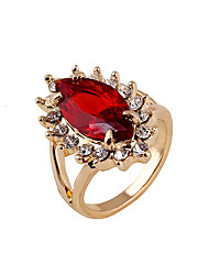 Gorgeous Rhinestone Embellished Faux Gem Alloy Ring For Women Vampire Kate