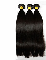 "3Pcs Lot 8""-28"" Malaysian Virgin Hair Straight Natural Black Human Hair Weave Bundles Shed & Tangle Free Hair Extensions"