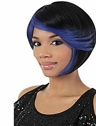 Multi-Color Straight Synthetic Wig European Fashion Hair Wigs