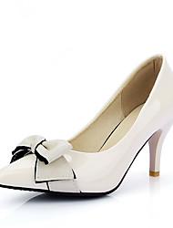 женская обувь лакированная кожа шпильках пятки острым носом пятки свадьба / партия&вечер / платье черный бежевый розовый