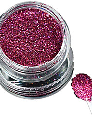 1 Bottle Nail Art Laser Rose Red Glitter Shining Powder Manicure Decoration Nail Beauty L04