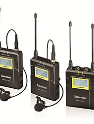 Saramonic 96-Channel UHF Wireless Lavalier Microphone System 2 Transmitters and 1 Receiver for DSLR Camcorder Video
