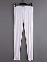 Women's Solid Blue / White / Black Skinny Pants