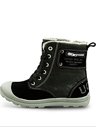 Boys' Boots Winter Comfort PU Outdoor Casual Black Brown