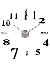 new diy 3d home decoration wall clock big mirror wall clock modern designlarge size