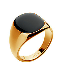 Ring Fashion Party / Daily / Casual Jewelry Alloy / Opal Men Band Rings 1pc,8 / 9 / 10 Gold / Silver Christmas Gifts