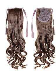 "22""(55cm) 100g Long Curly Wave Ribbon Ponytails #6 Clip in Hair Extensions Ponytail Synthetic Hairpiece Accessories"