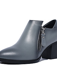 Women's Shoes Cowhide /  Leather Chunky Boots / Gladiator / Comfort / Combat Boots / Novelty / Styles / Pointed Toe /