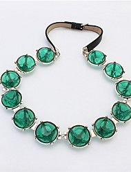 Stylish Atmosphere Round Gemstone Necklace Jewelry Accessories