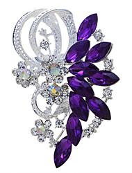 mariée fleur de mariage broche en strass pour les femmes hommes accessoires bijoux