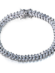 Platinum Plating Trendy Lady Bracelet With Cubic Zirconia for Women Bracelet Wedding Jewelery