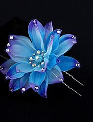 Femme Tissu Casque-Mariage Occasion spéciale Fleurs 1 Pièce