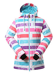 Gsou snow color stripe ski jackets/ women windproof waterproof ski-wear /snowboard/double snowboard ski suit