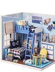 chi maison fun maison bricolage jouets modèle d'assemblage créatif