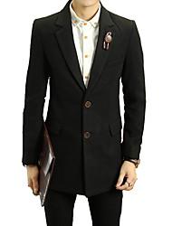 2016 new British style business casual men in long wool woolen coat lapel coat all-match tide