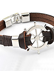 Men's Personality Non-mainstream Punk Anchor Leather Bracelet