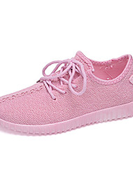 Women's Shoes Fabric Breathable Coconut Soft-soled Comfort / Round Toe Sneakers Outdoor / Athletic / Casual Lace-up