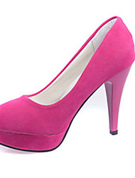 Women's Shoes Fleece Summer Heels Heels Casual Stiletto Heel Others Black / Fuchsia