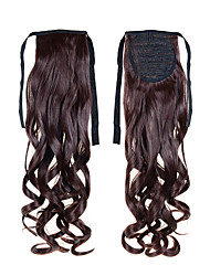 High Quality 1PC Synthetic Ponytails Extension 50cm 22inch 100g #33 Resistant Fiber Curly Wavy