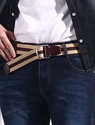 Men Canvas Waist Belt,Vintage / Party / Work / Casual Alloy D6B4P501