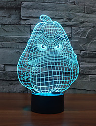 New Pattern USB 3 D Lamp Colorful Touch LED Vision Lamp Gift Decoration Atmosphere Desk Lamp Color-Changing Night Light