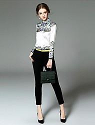 Ewheat® Women's Shirt Collar Long Sleeve Maxi Dress-T2128