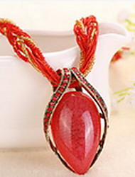 Necklace Pendant Necklaces Jewelry Daily Fashion Alloy Black / White / Yellow / Red / Orange / Purple / Gray 1pc Gift