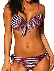Bikinis Aux femmes Géometrique Licou Nylon / Spandex