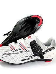Da uomo-Sneakers-SportivoPiatto-Microfibra-Bianco