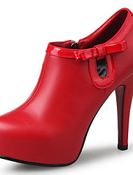 Women's Shoes Leatherette Spring / Summer / Fall / Winter Heels / Platform / Pointed Toe / Closed Toe HeelsWedding