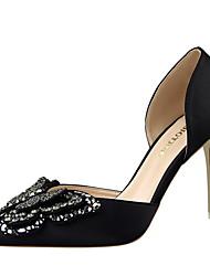 Women's Shoes Summer Heels Heels Dress Stiletto Heel Bowknot Black / Green / Pink / Red / Gray / Nude