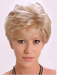 Элегантные светлые короткие вьющиеся дамы парик для Европы и Америки страны