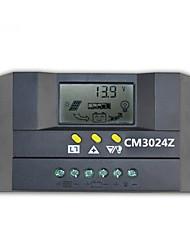 12v / 24v 30a pantalla de cristal líquido inteligente controlador de la lámpara de calle de energía solar