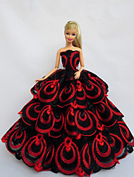 Princess Dresses For Barbie Doll Red / Black Dresses