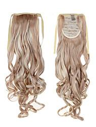 la meilleure vente de longue queue de cheval cheveux extentions 22inch 55cm 100g # 18/613 couleur mélangée cordon synthétique queue de
